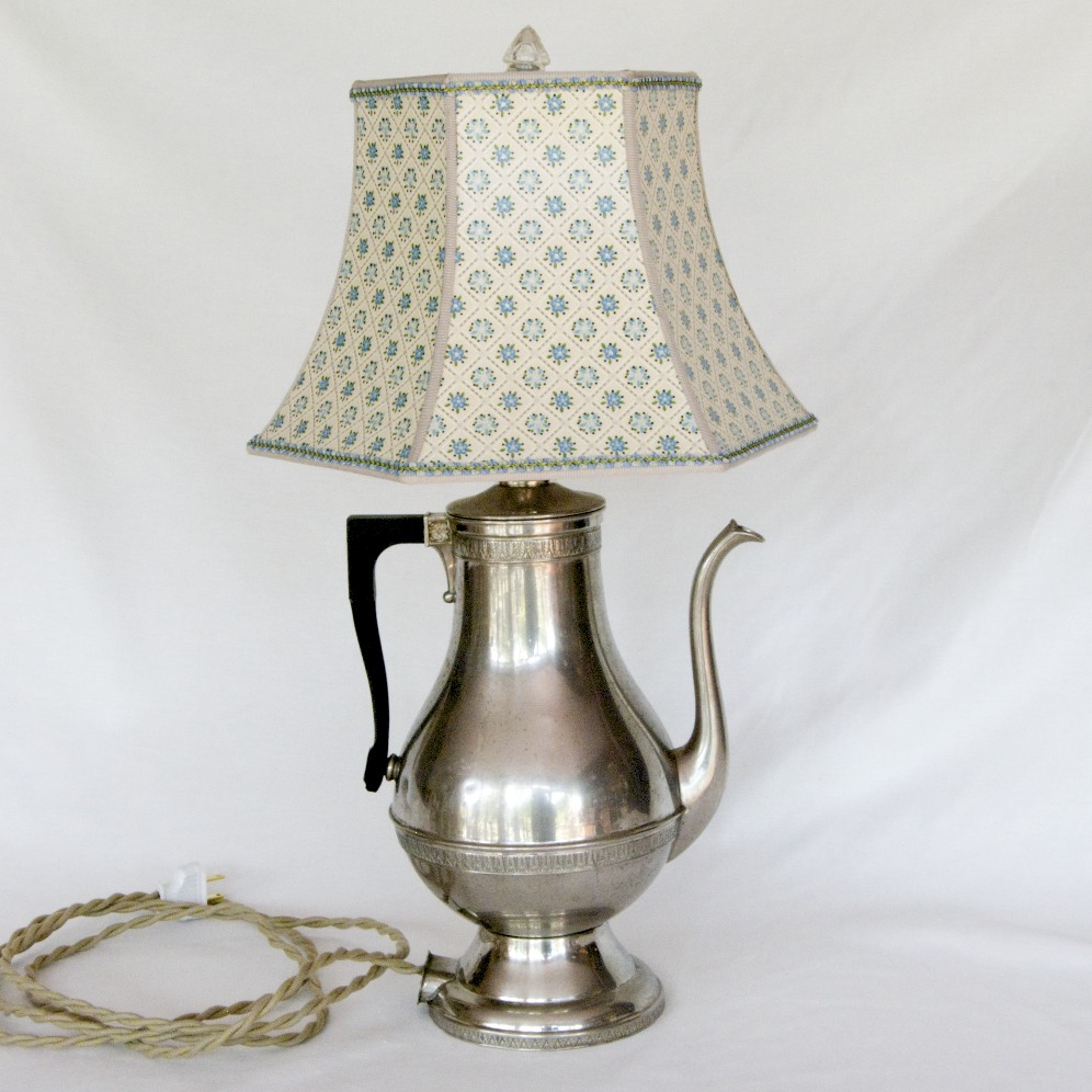 When ... & Upcycled lamps using vintage coffee pots from the 1940s and 1950s ...