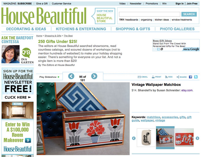 House Beautiful, 250 Gifts under $25.00