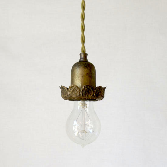 Vintage Findings & Cloth Cord Swag & Pendant Light Kits