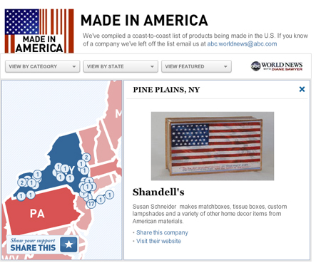 Made in America Map
